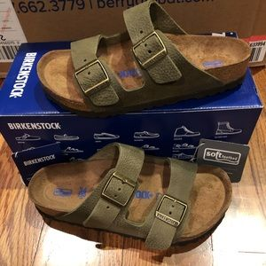 Birkenstock Arizona steel khaki 5 medium new